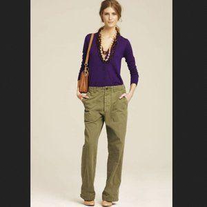 J.Crew Fall 2011 Runway Collection High Rise Green Khaki Pants 2   - Style 50160